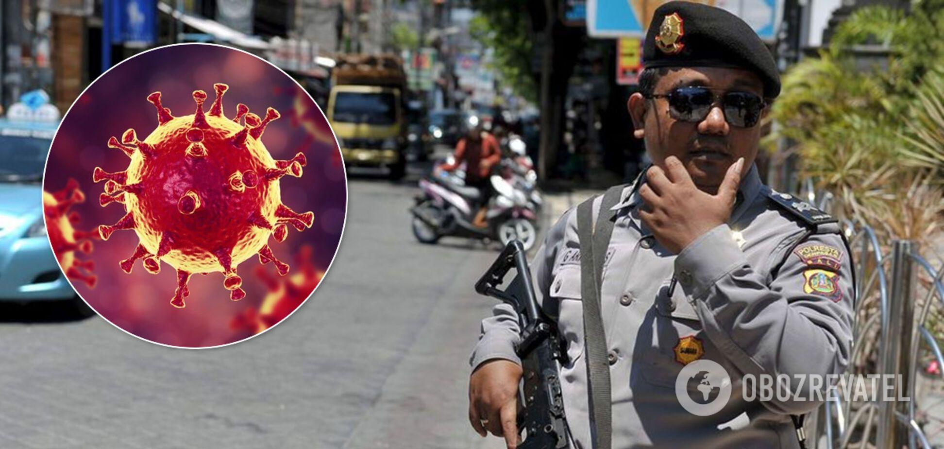 Поліція Балі і коронавірус. Ілюстрація
