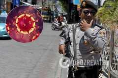 Полиция Бали и коронавирус. Иллюстрация