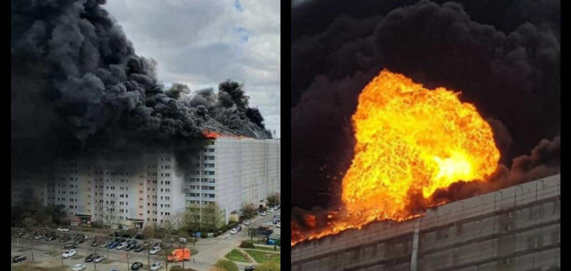В Берлине пожар охватил высотные дома. Фото и видео