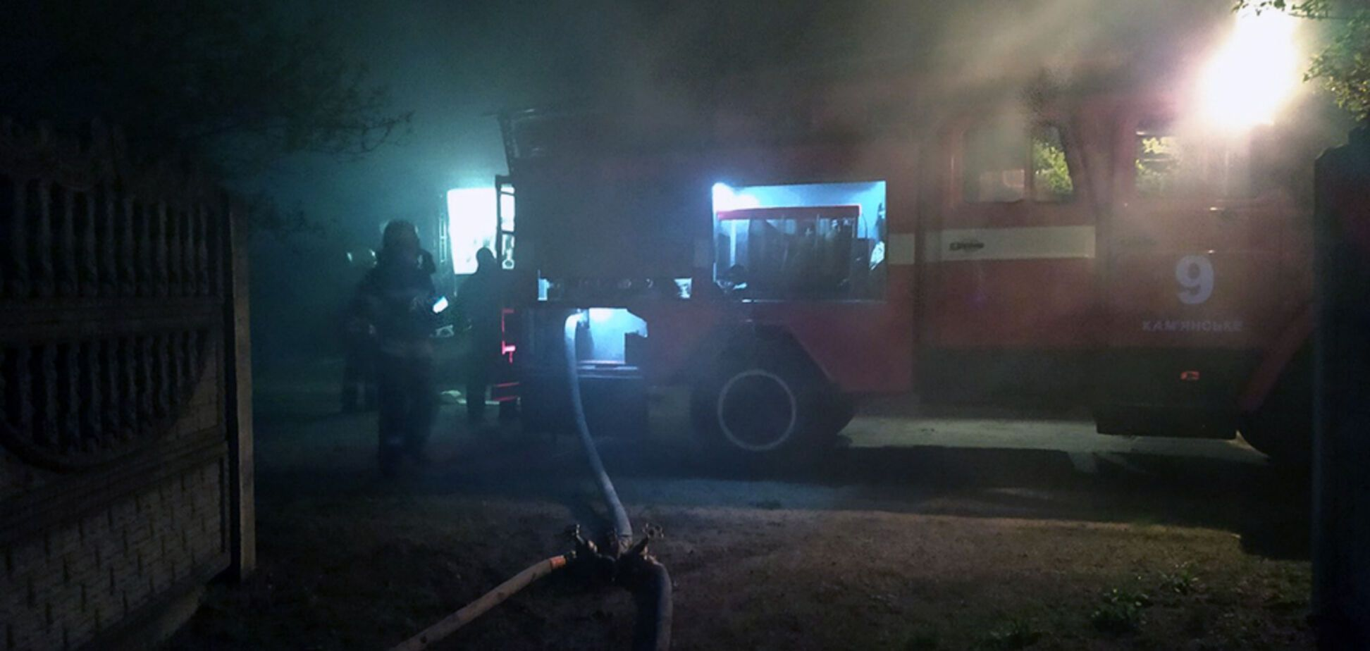 На Дніпропетровщині під час пожежі серйозно обгорів чоловік. Фото з місця НП