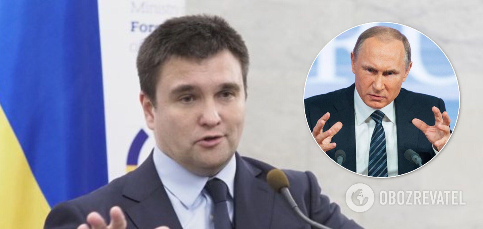 Клімкін пояснив, чому перемир'я на Донбасі вигідне Путіну