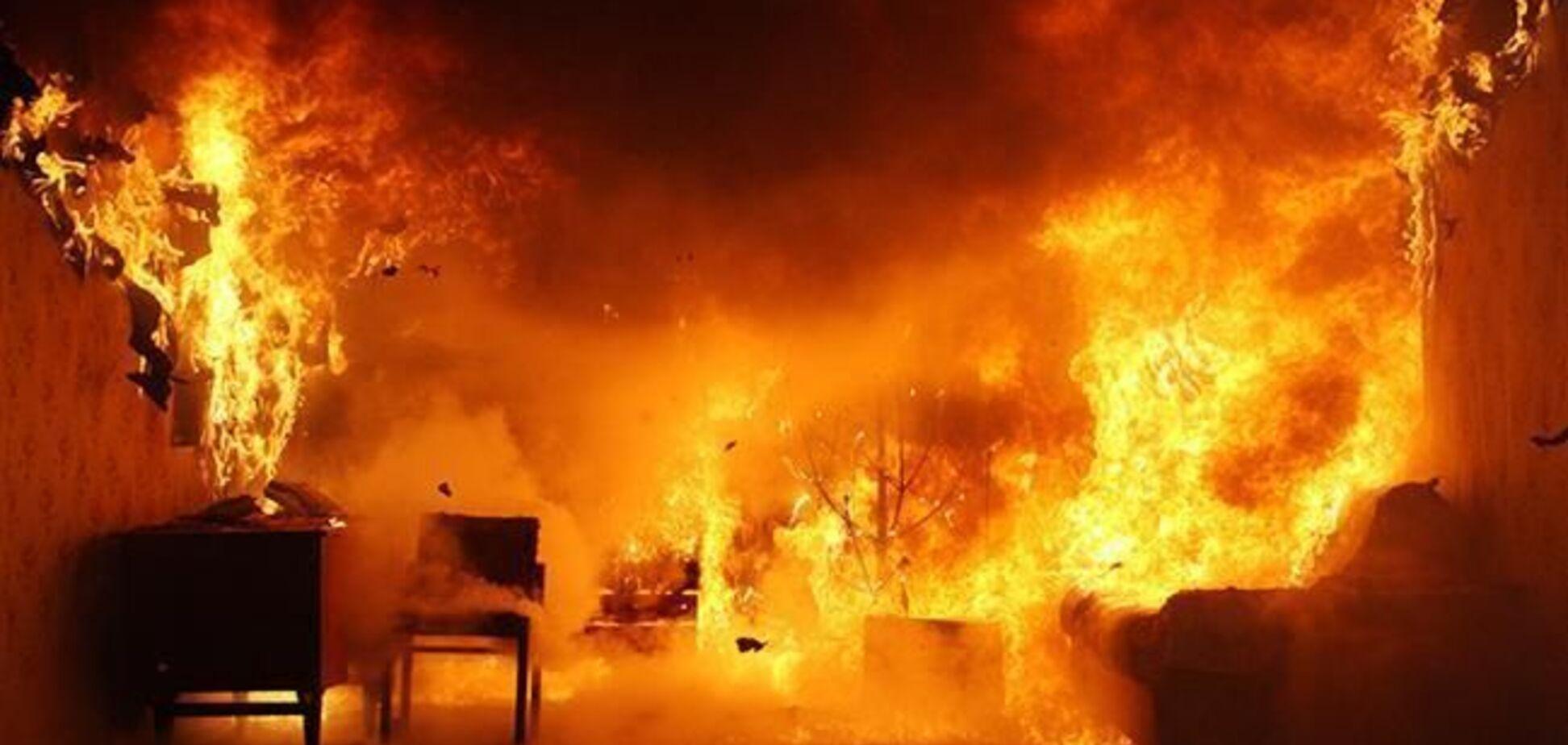 У Кривому Розі загинув чоловік під час пожежі в житловому будинку. Фото