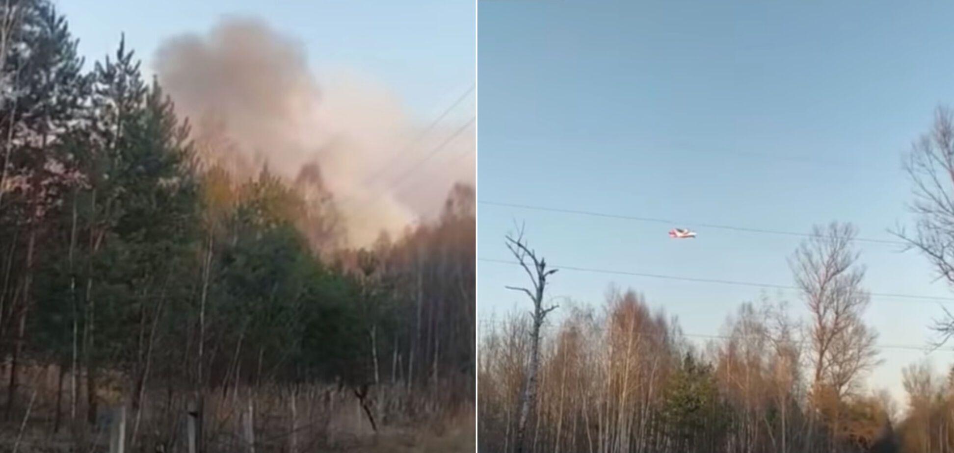 У Чорнобильській зоні рятувальники третю добу гасять масштабну пожежу