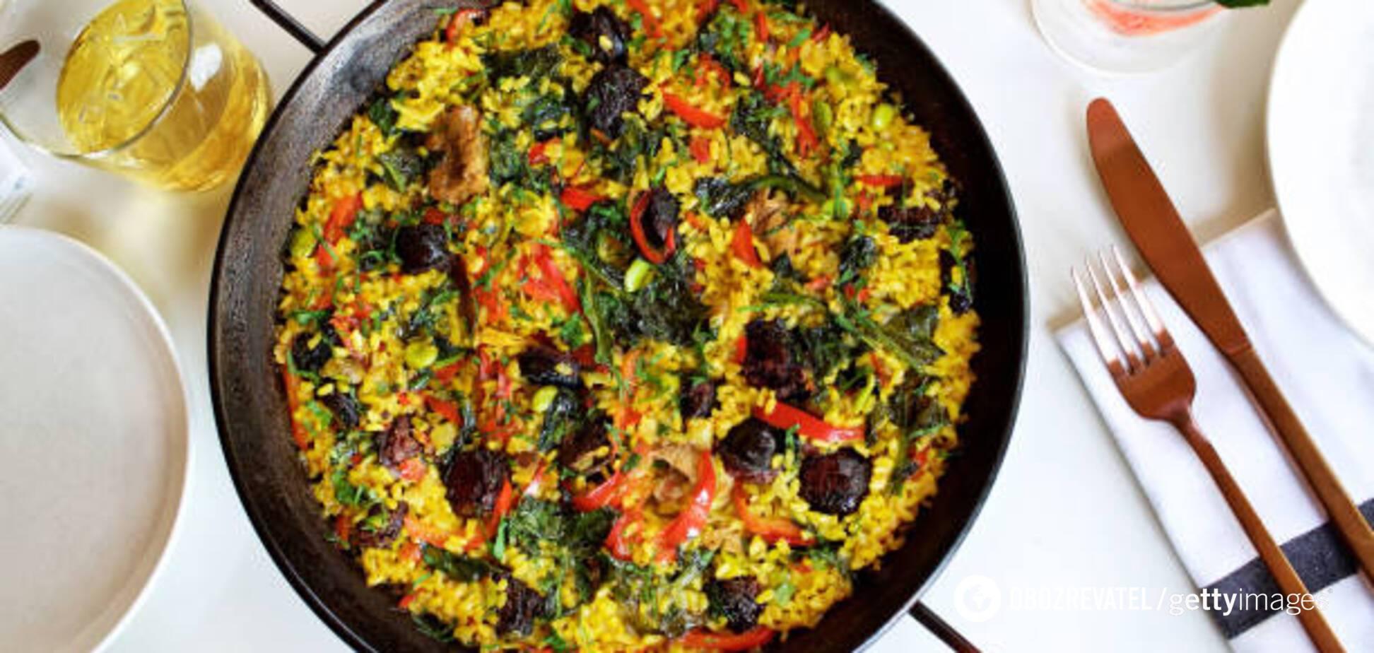 Мини паэлья с морепродуктами: диетический рецепт