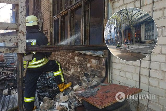 В Киеве вспыхнул масштабный пожар на складах