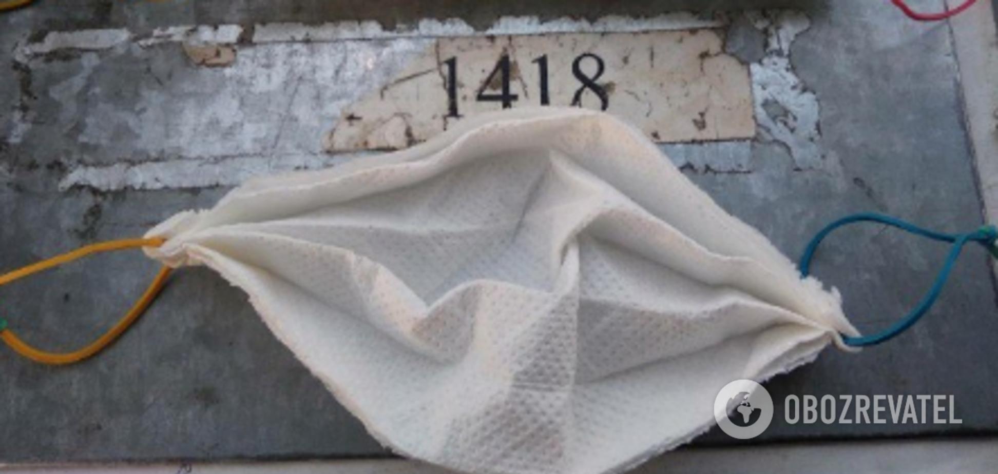 'Укрзалізниця' выдала своим сотрудникам маски из бумажных салфеток: разгорелся скандал