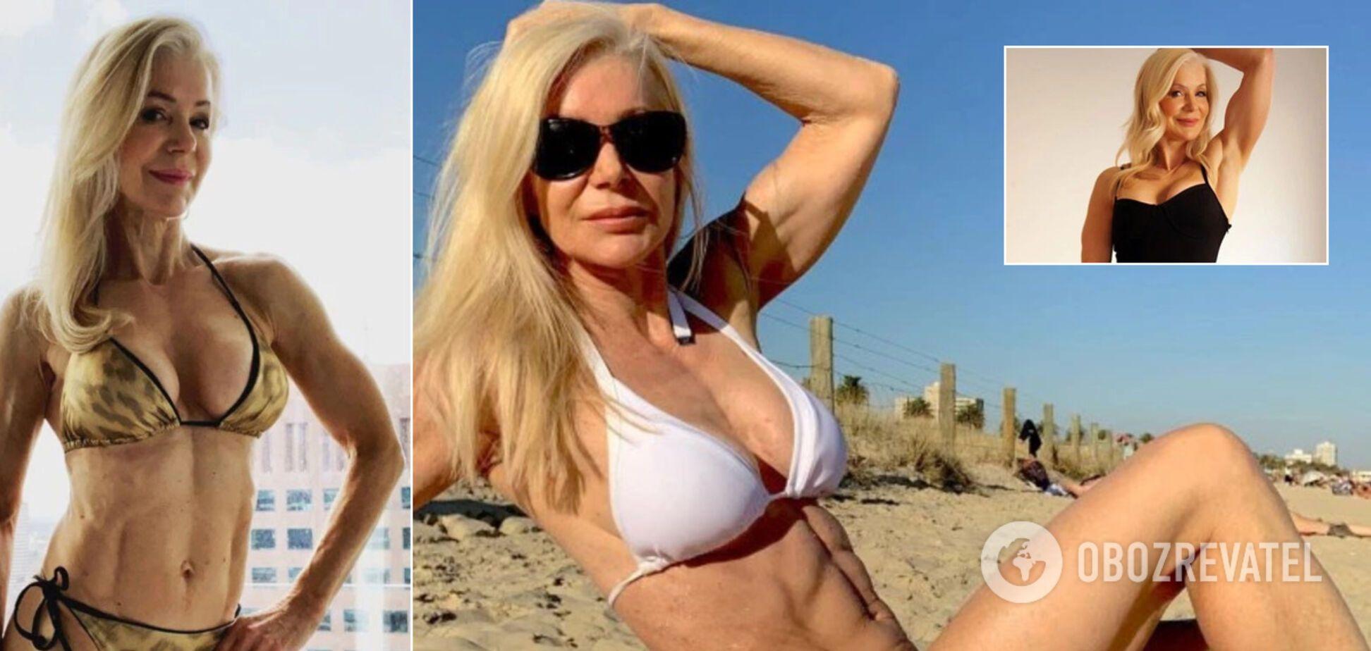 64-летняя культуристка Лесли Максвелл снялась полуголой, поразив невероятной формой