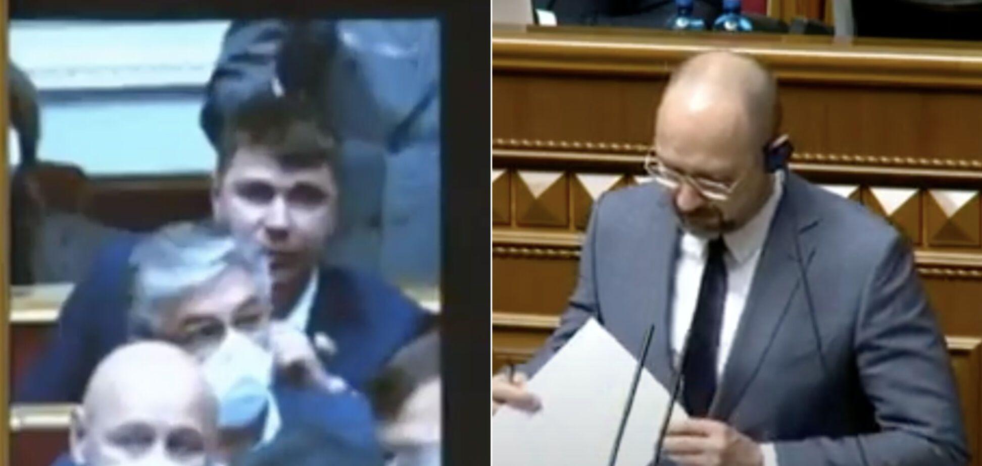 Шмыгаль не сдержал эмоций после вопроса нардепа Полякова в Раде. Видео