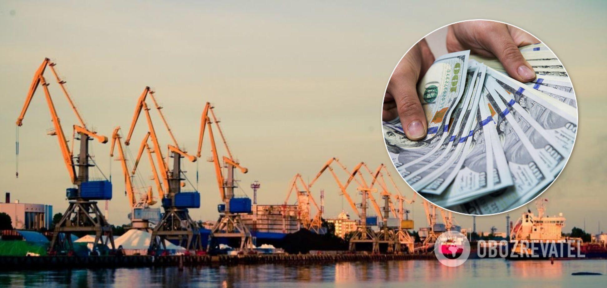 Украина привлекла 3,4 млрд гривен в морской порт 'Ольвия'