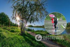 Зальет дождями и прогреет до +25: в Украину идет переменчивая погода