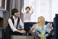 Ірина Білик з чоловіком і молодшим сином