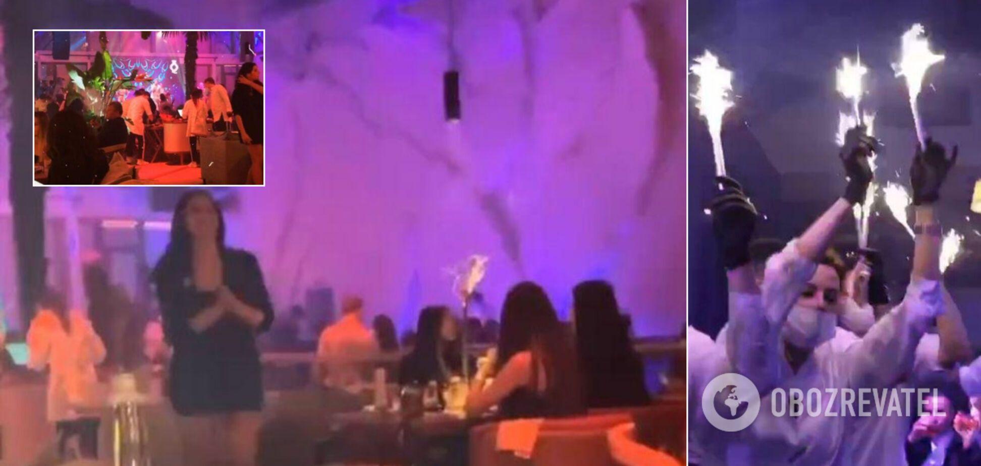 Элитный ночной клуб в Киеве 'забил' на карантин: в сеть попали фото и видео с вечеринки