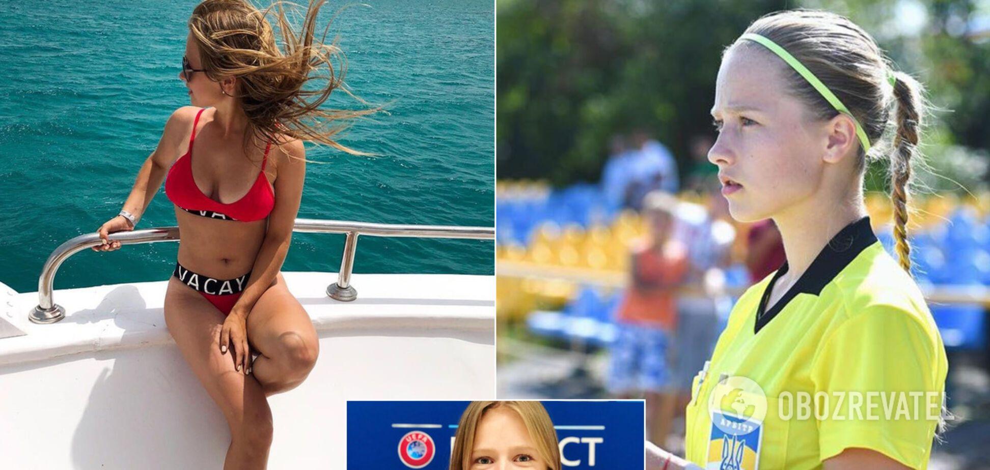 Украинская девушка-арбитр София Причина впечатлила сеть красотой