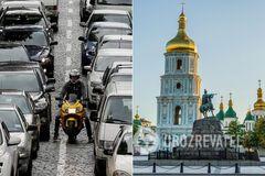 Часть Киева остановилась в пробках: где не проехать. Карта