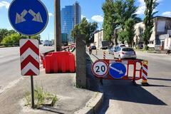 У Києві обвалився шляхопровід: дивом обійшлося без жертв. Фото