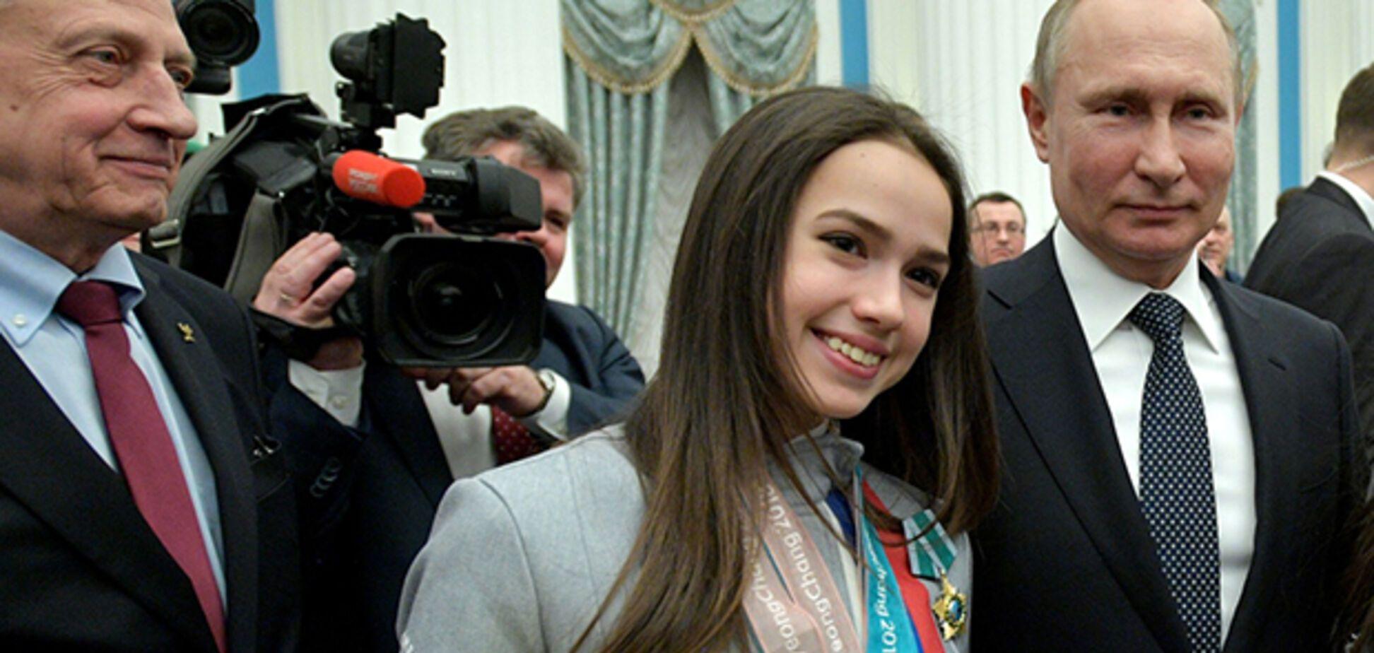 Олимпийская чемпионка Алина Загитова, с которой нарушил закон Путин, показала телеграмму от него