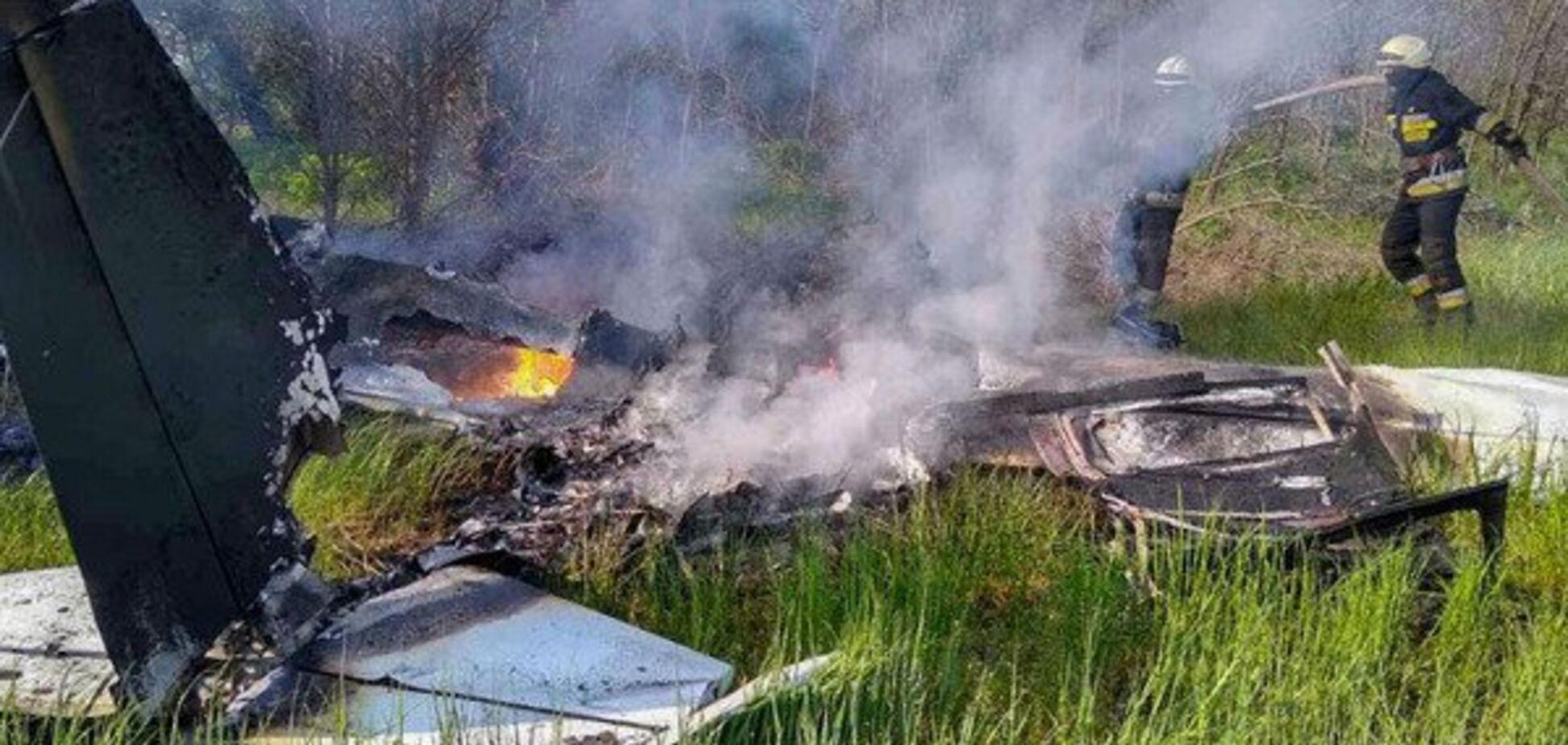 Катастрофа літака під Дніпром: правоохоронці назвали причину аварії. Відео