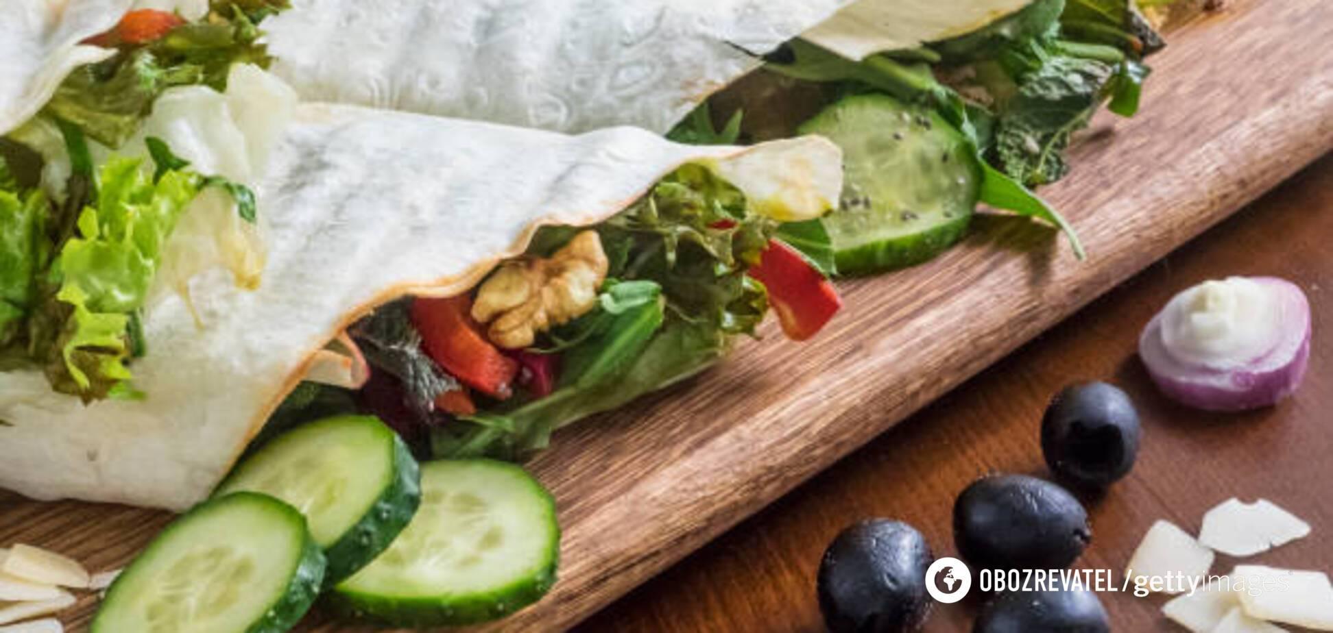 Шаурма без мяса с двумя соусами: рецепт от известного фуд-блогера
