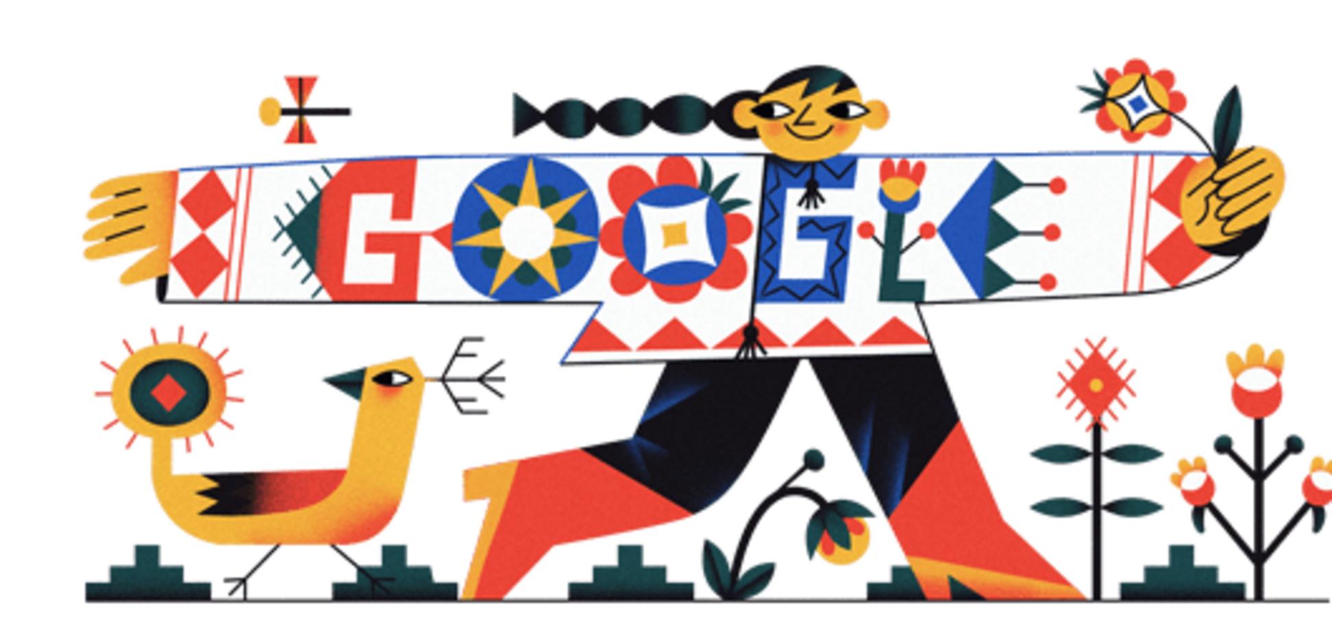 День вышиванки 2020: Google поздравил украинцев ярким дудлом