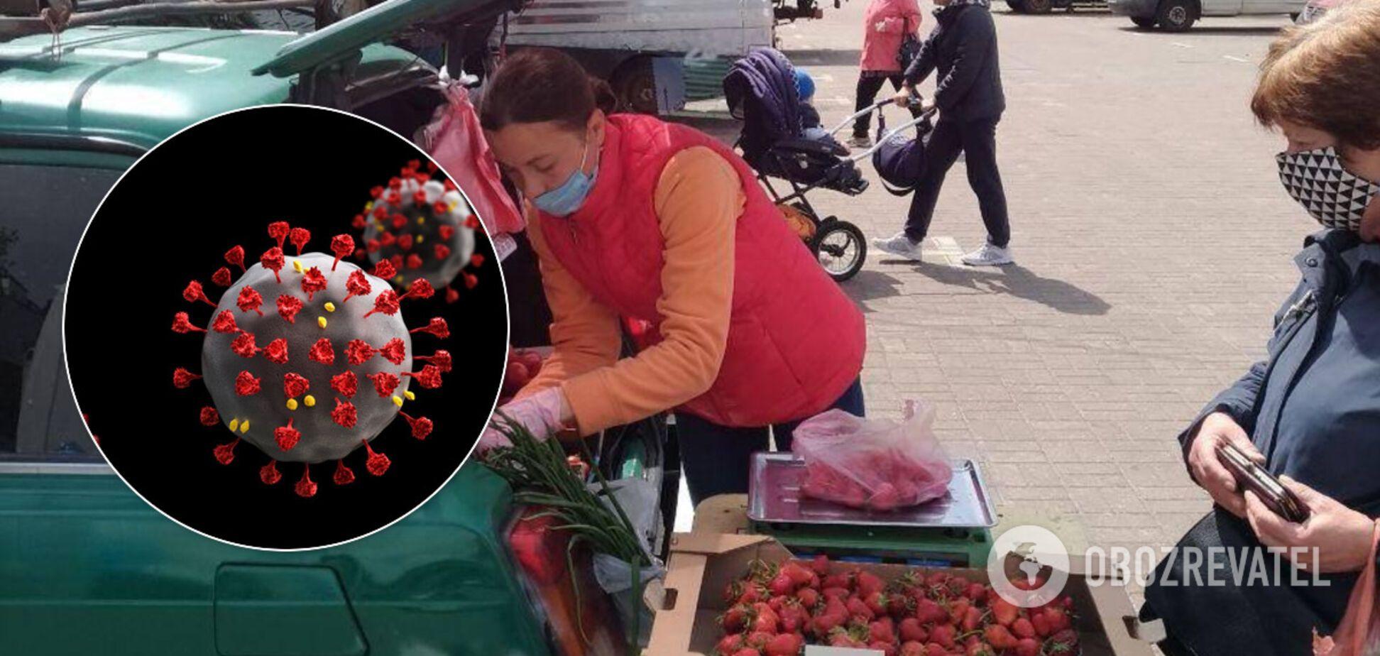 В Киеве развернулась стихийная торговля: жители боятся вспышки коронавируса