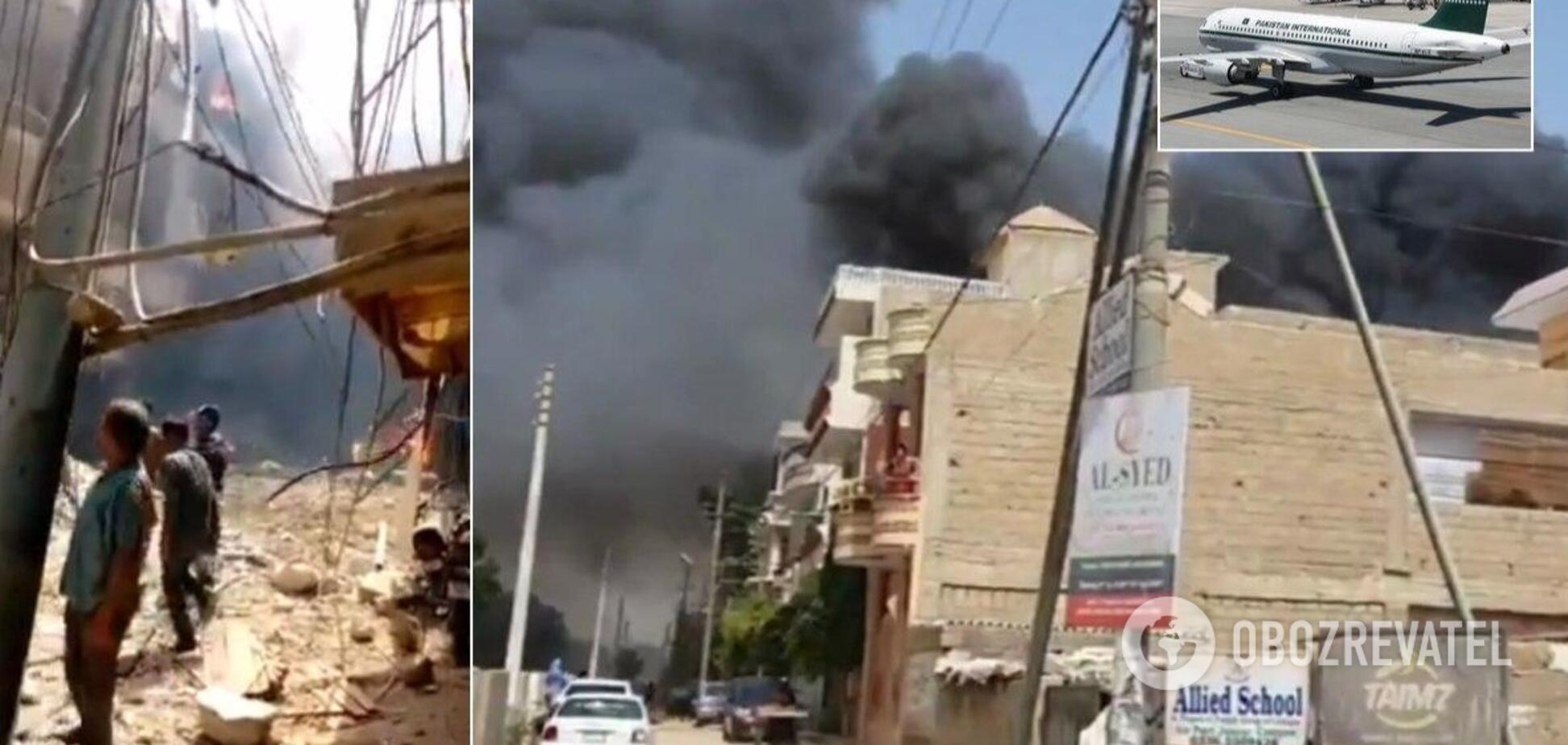 У Пакистані літак розбився в житловому кварталі: загинули понад 100 осіб. Фото й відео