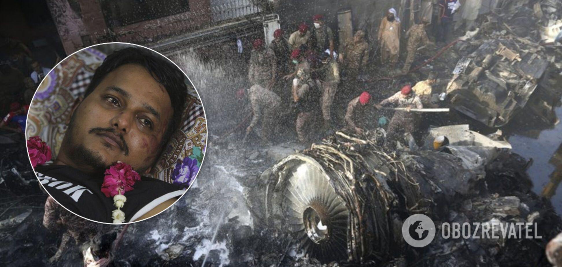 Выживший пассажир упавшего в Пакистане самолета рассказал о катастрофе