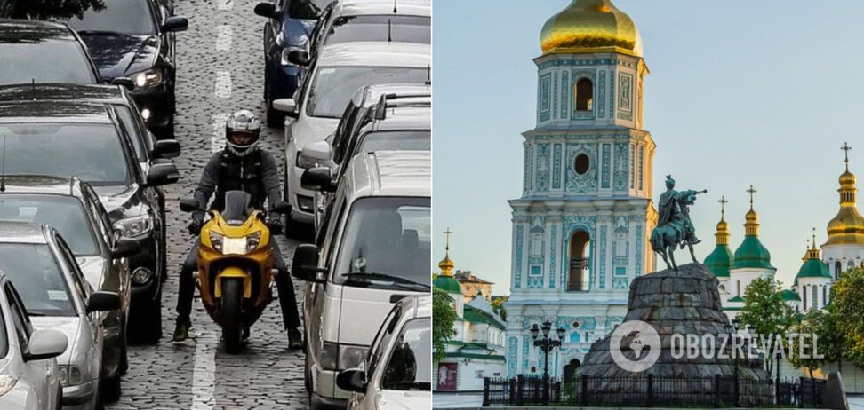 Киев в день открытия метро сковали масштабные пробки. Иллюстрация