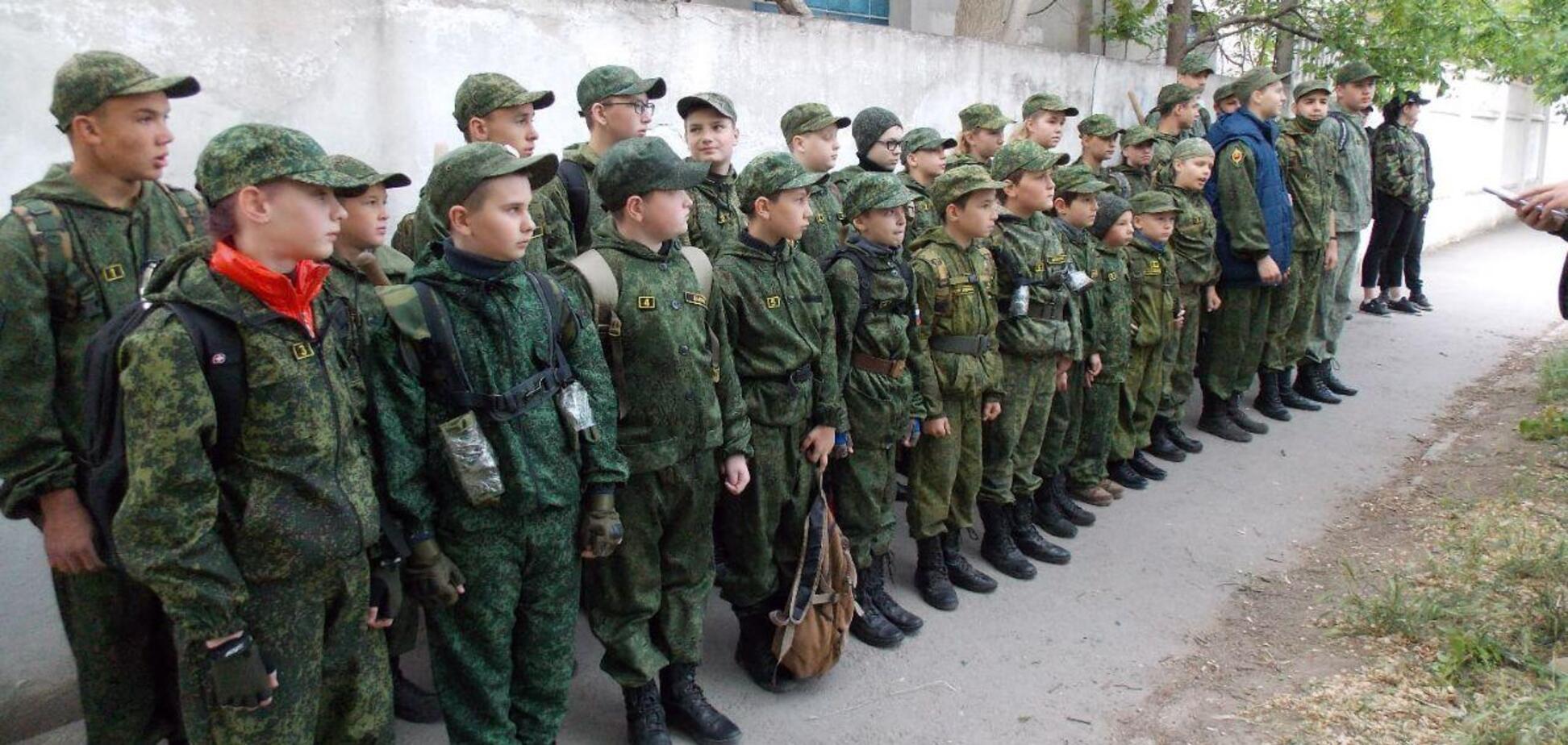 Мілітаризація дітей у Євпаторії
