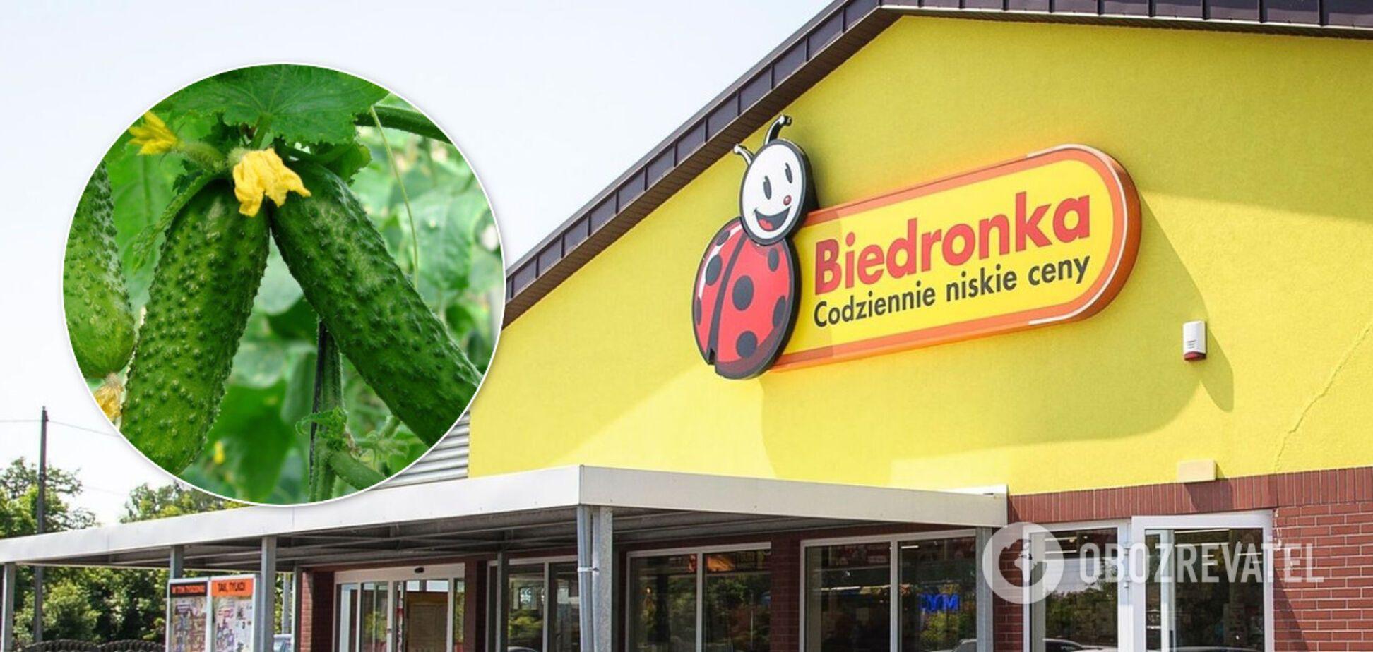 У Польщі велика мережа супермаркетів видавала українські огірки за місцеві
