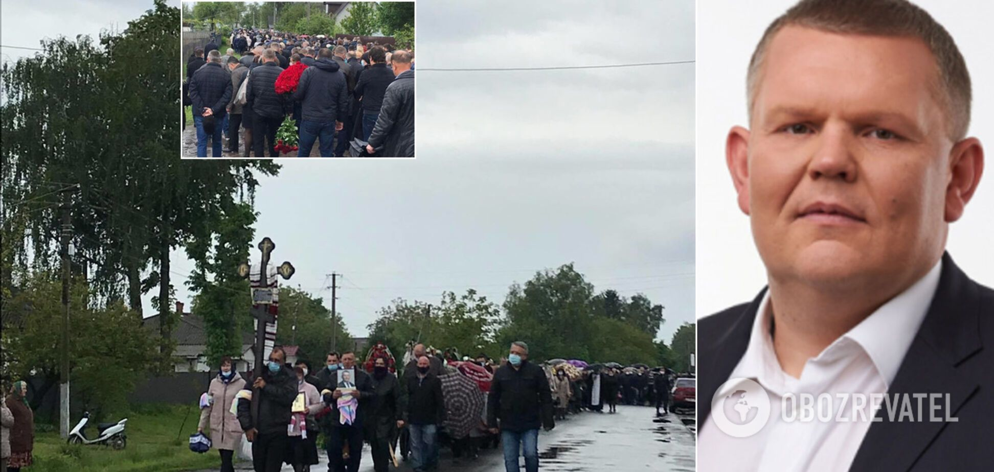 Нардепа Давыденко похоронили на Черниговщине: пришли сотни людей. Фото