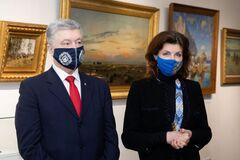 Порошенко открыл выставку семейной коллекции картин и подколол ГБР