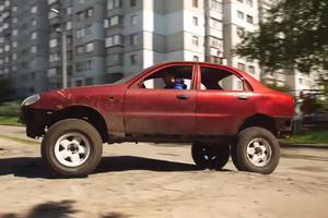 Ланос за $1000 превратили в идеальное авто для украинских дорог