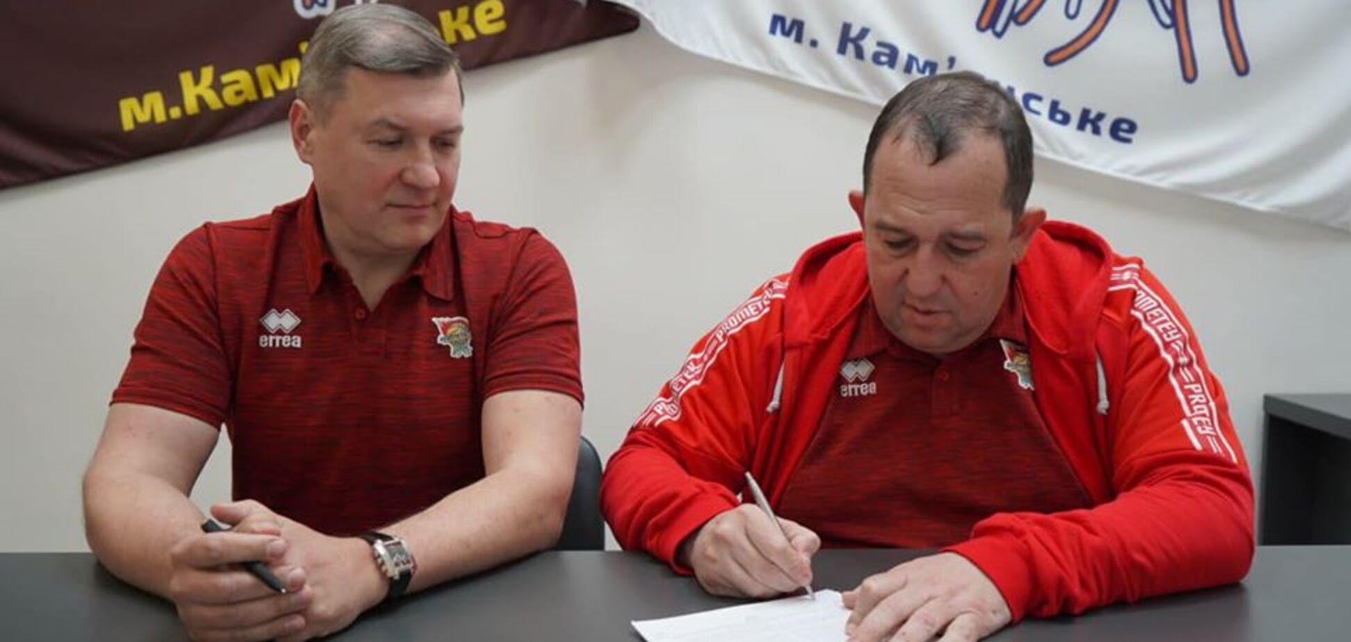 Президент СК 'Прометей' Володимир Дубінський представив нового тренера баскетбольного клубу