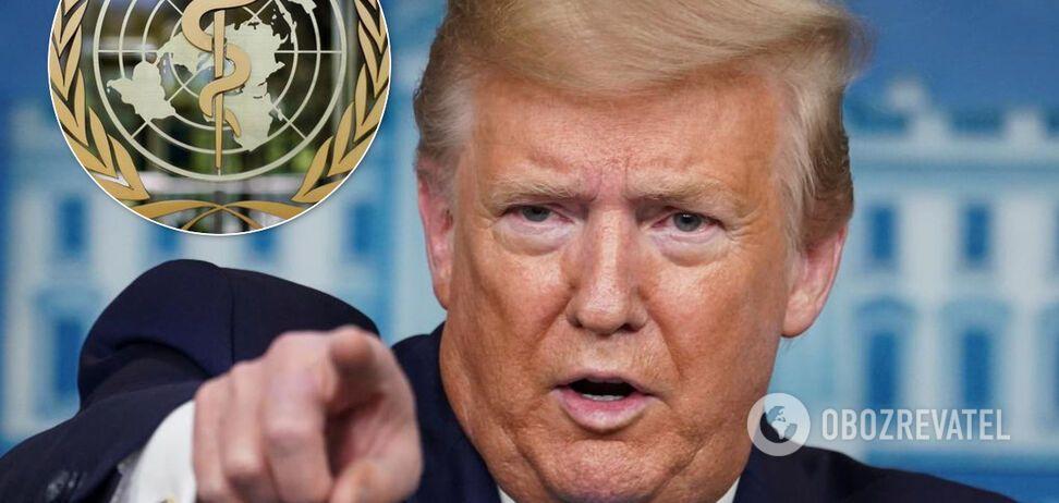 Забрал $450 млн: Трамп заявил об окончательном разрыве отношений США с ВОЗ