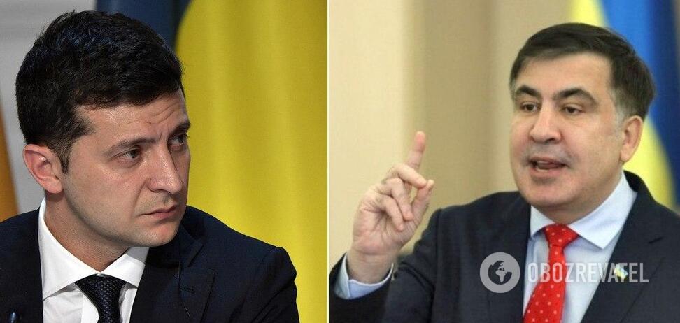 Зеленский, Саакашвили и Деканоидзе