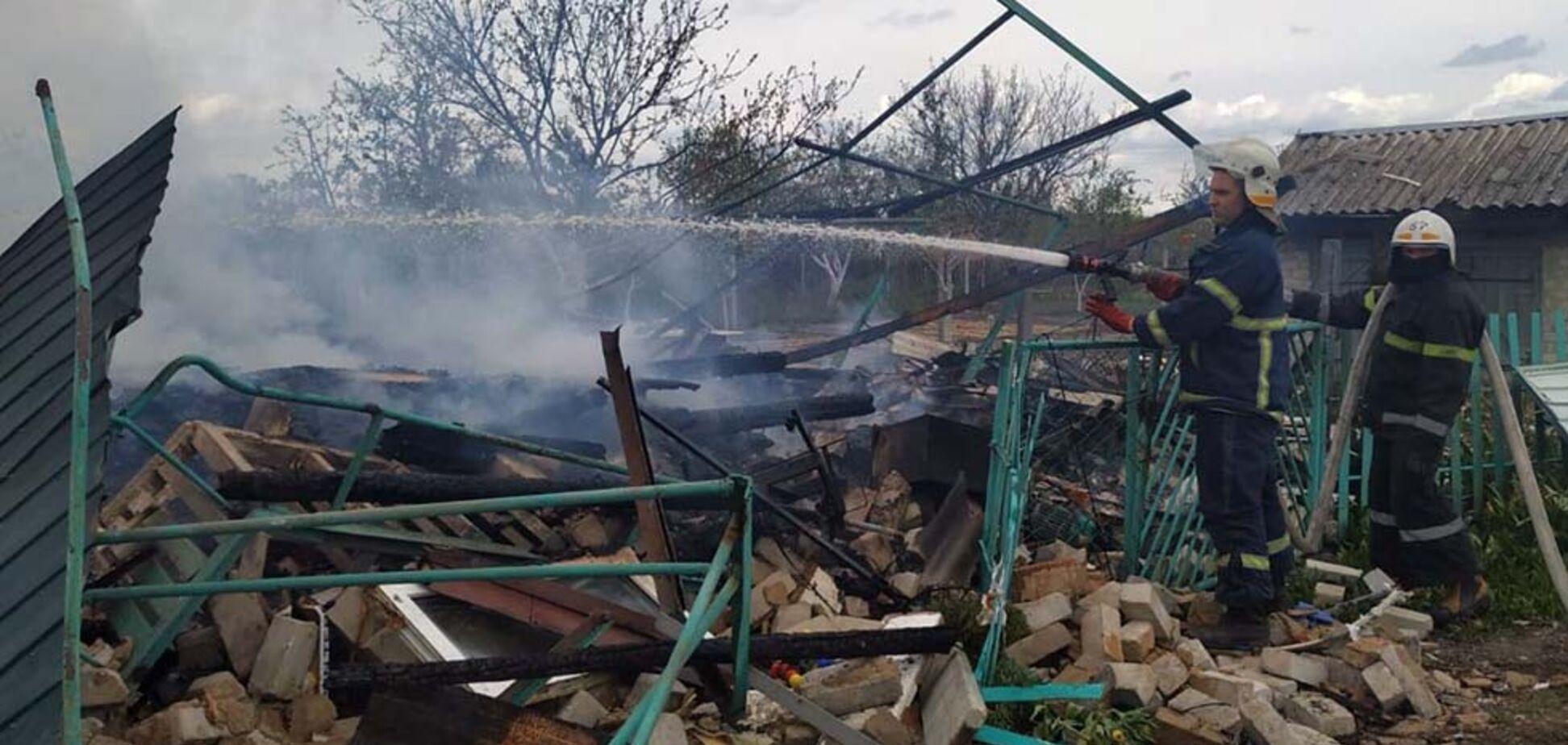 На Днепропетровщине взорвавшийся газовый баллон разрушил дом. Видео