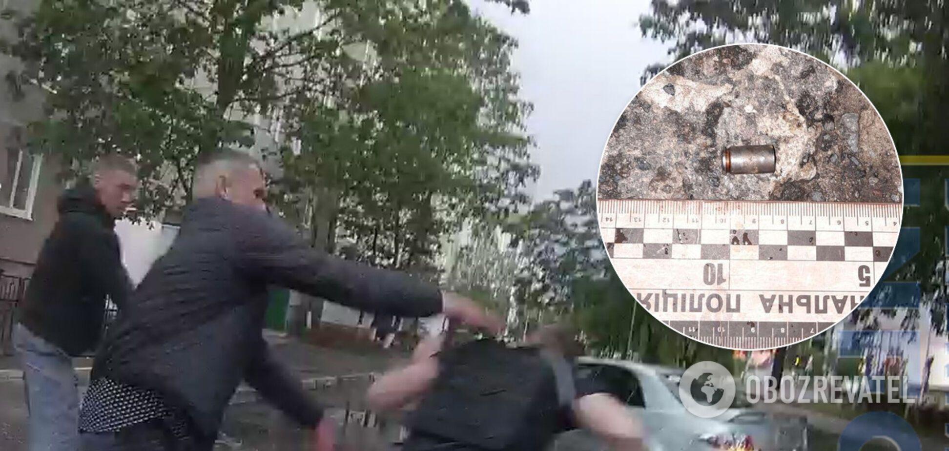 З'явилося відео поліцейської розборки зі стріляниною на Рівненщині