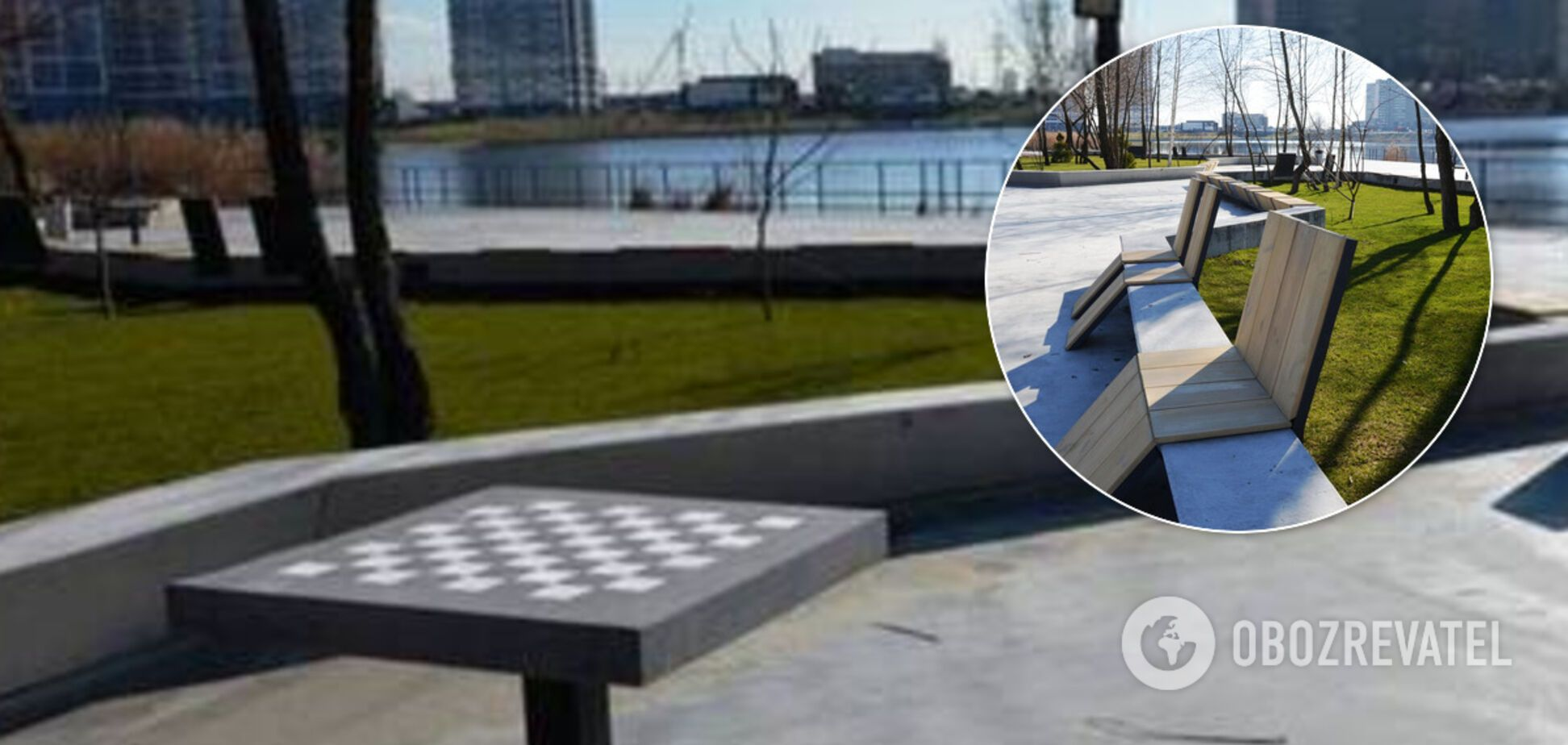 У київському парку розбили нові шахові дошки з бетону за 10 тисяч. Фото