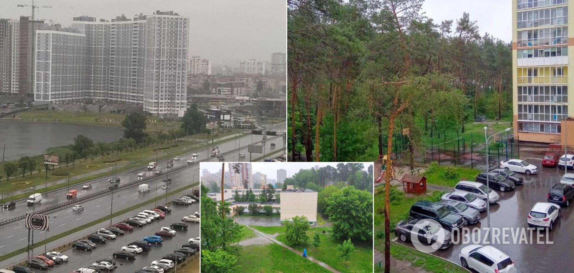Київ пішов під воду через сильну зливу: машини попливли, місто тоне. Фото і відео