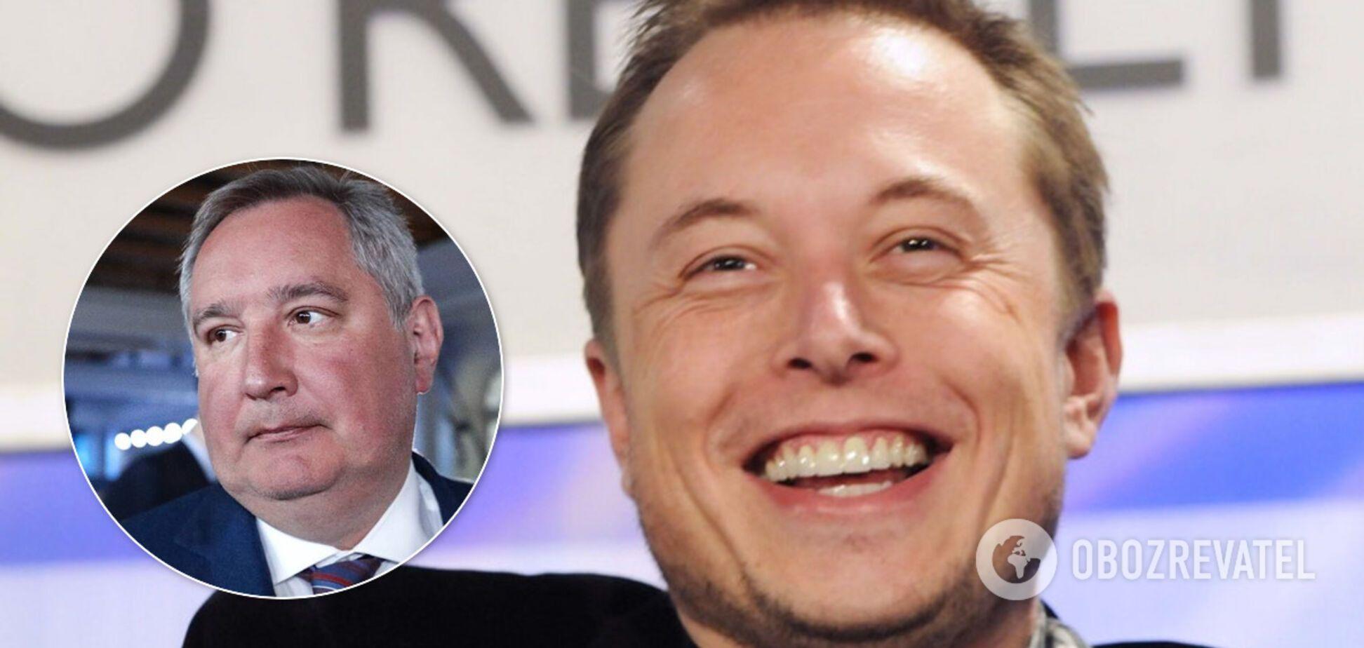 'Дякую, сер, ха-ха': Маск російською відповів Рогозіну в Twitter