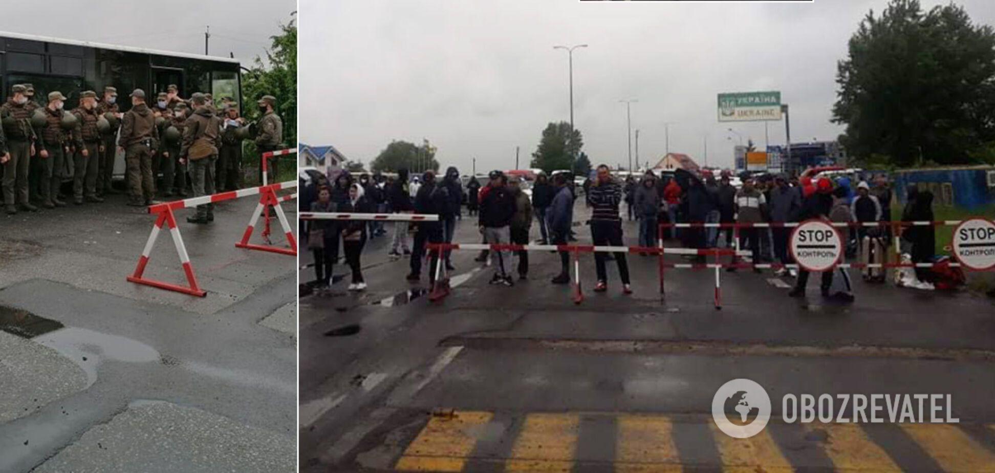 На Закарпатье произошли потасовки на КПП между пограничниками и заробитчанами. Стянуты силовики