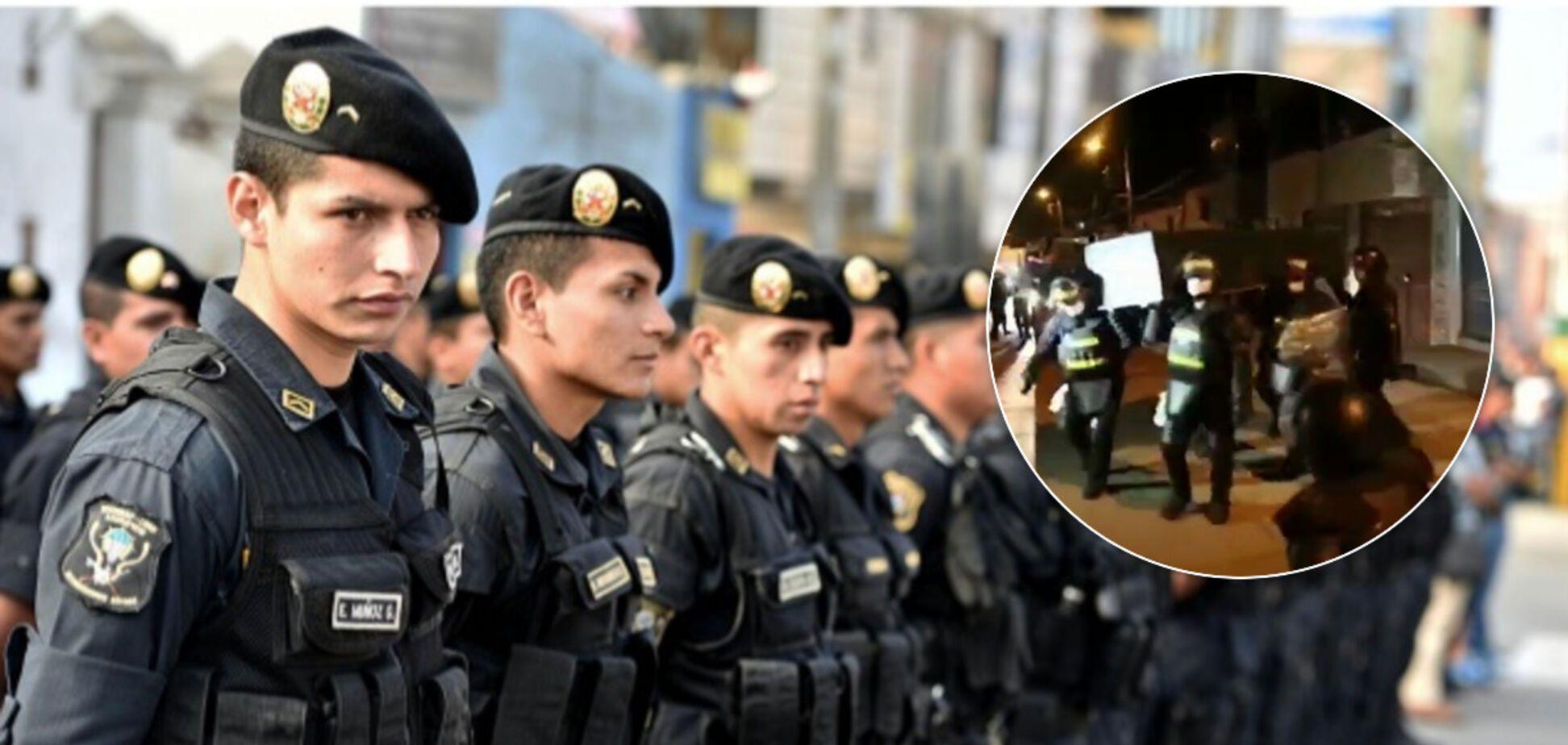В Перу полицейские исполнили танец с гробом, призывая не нарушать карантин. Видео