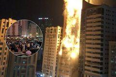 Свеча в 47 этажей: в ОАЭ пламя поглотило небоскреб. Фото и видео