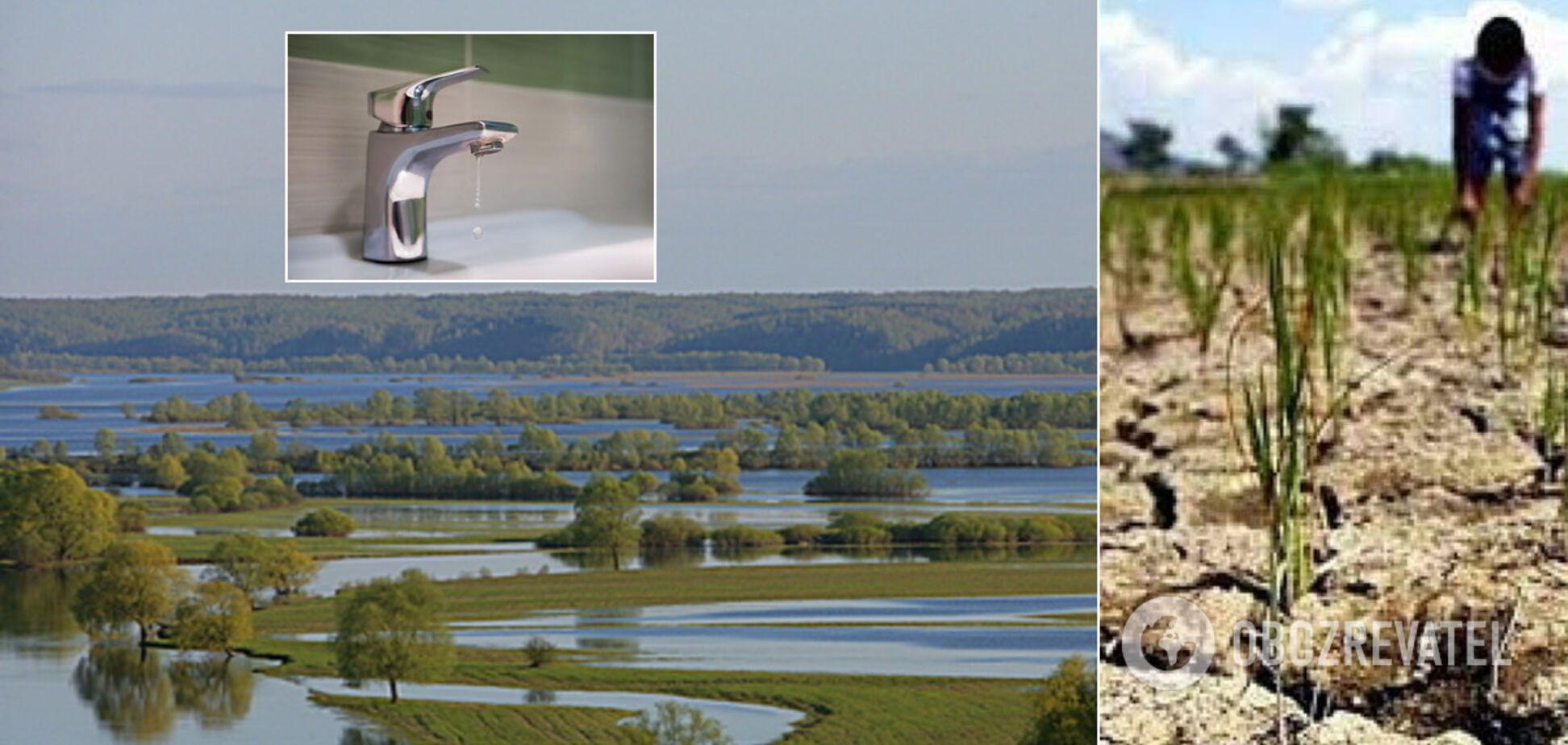 В Україні зникнуть озера й річки, воду даватимуть по годинах: ситуація критична