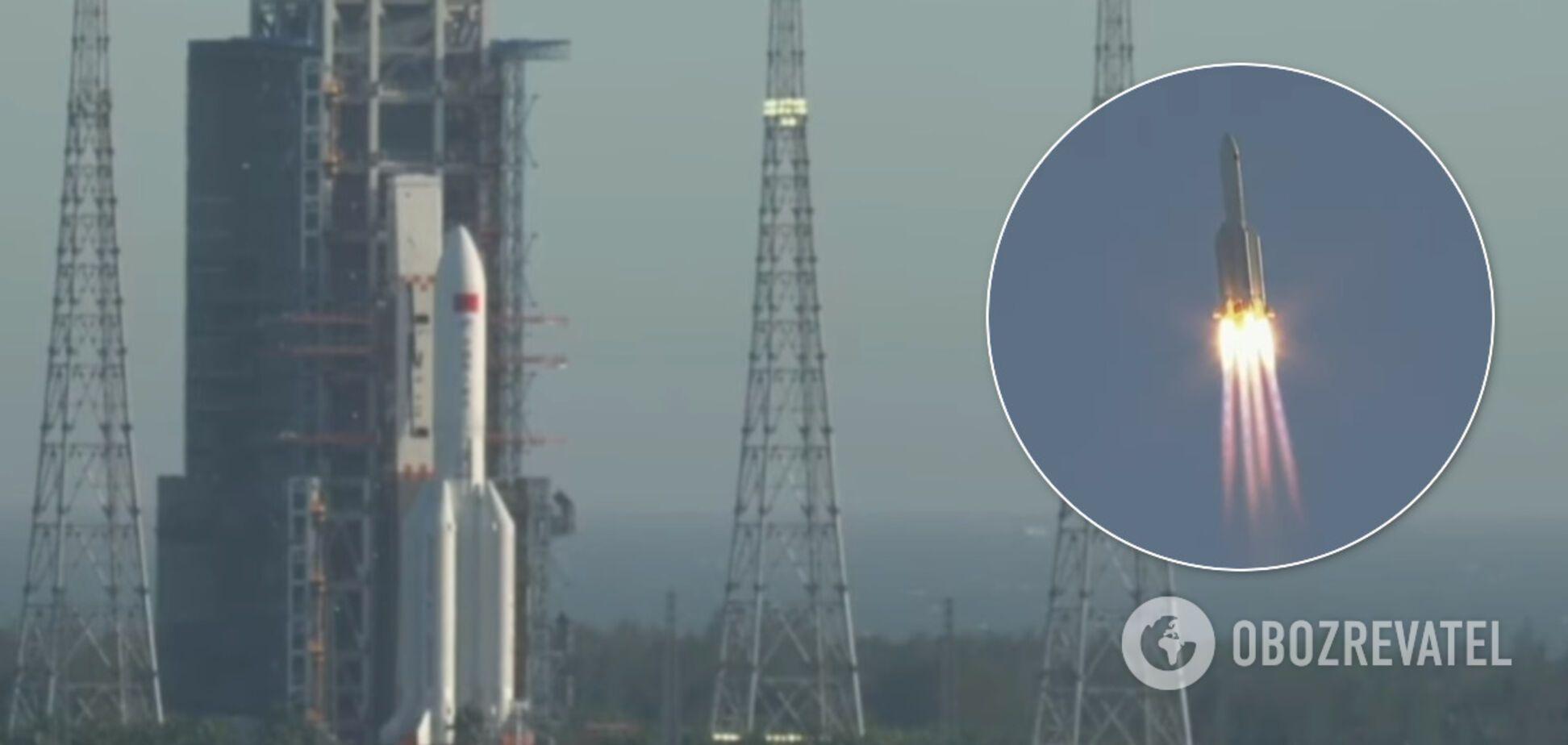 Запуск ракети Long March-5B