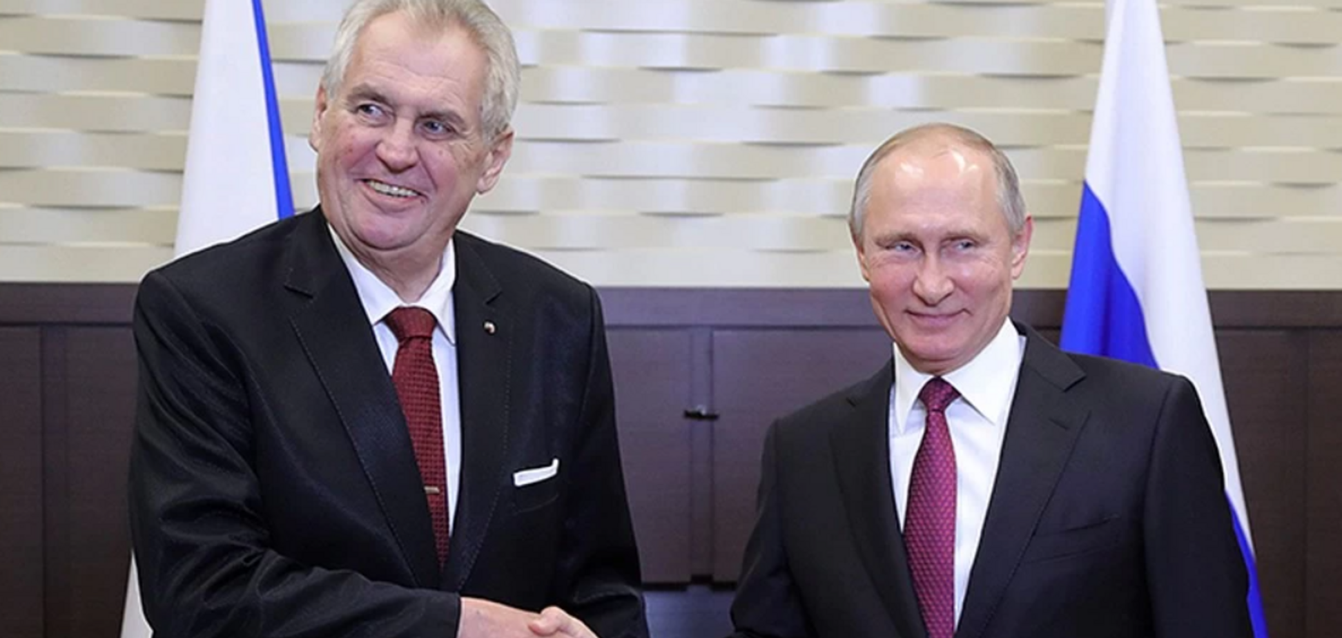 Президент Чехії став на сторону Путіна в справі про 'росіянина з отрутою'
