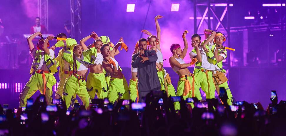 Шоу 'LOVE IT ритм' на НСК 'Олимпийский'