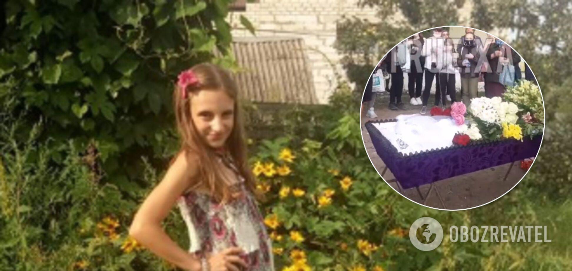 Под Харьковом разгорелся скандал из-за похорон девочки, жестоко убитой матерью
