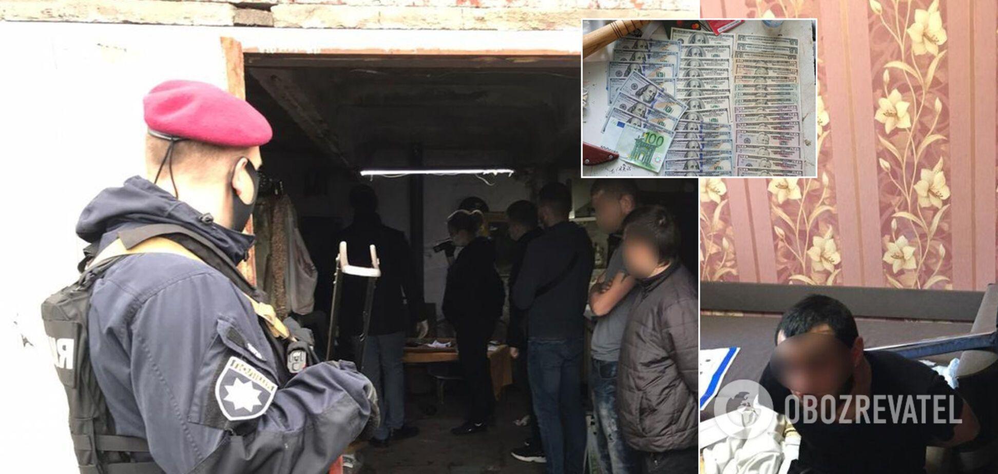 На Київщині банда псевдополіцейських викрадала людей. Фото і відео