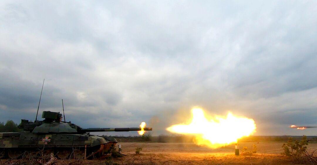 Испытание модернизированного Т-72